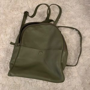 Green mini backpack